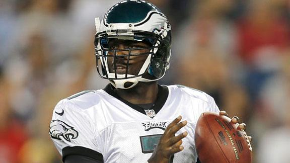 Eagles QB Vick calls players-only meeting