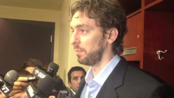 Video - Gasol Talks Loss