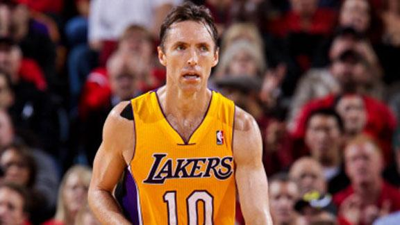 Lakers not pressing Nash on return, Brown says