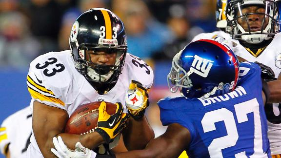Redman's late TD pushes Steelers past Giants