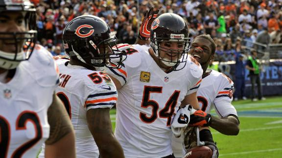 Urlacher pick-six caps dominant day by Bears D