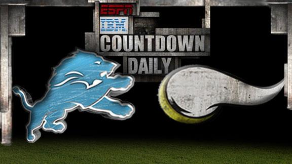 Video - Countdown Daily Prediction: Lions-Vikings