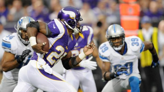 Video - Peterson Carries Vikings Past Lions