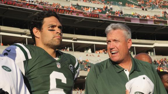 NY Jets quarterback Mark Sanchez sticking to script, coach Rex …