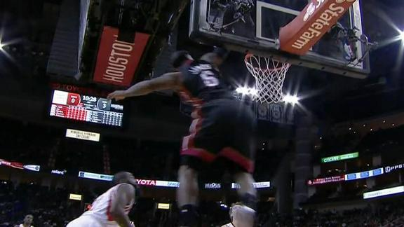 Video - LeBron Soars Past Harden