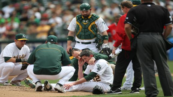 A's McCarthy cleared to resume baseball drills