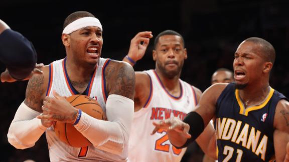 Melo, Knicks bounce back with win over Pacers