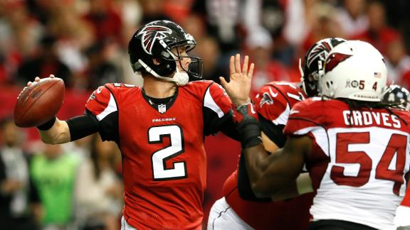 Falcons rally past Cards despite Ryan's 5 INTs