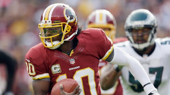 RG3 throws 4 TDs in Redskins' rout of Eagles