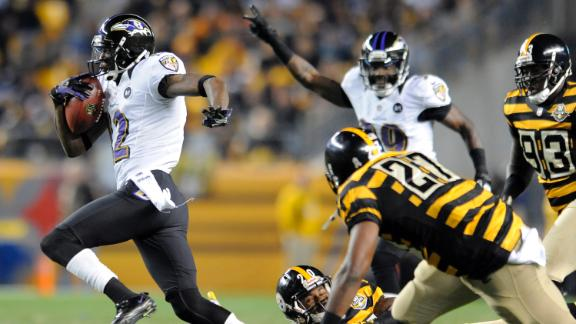 Video - Jacoby Jones' Punt Return Keys Ravens Victory