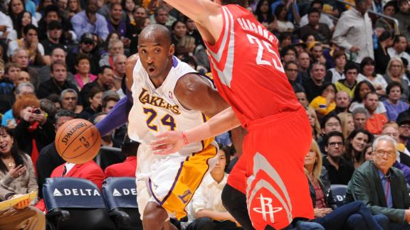 Kobe nets triple-double as Lakers stop Rockets