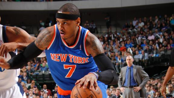 Video - Carmelo Anthony Hits Crazy No-Look Circus Shot