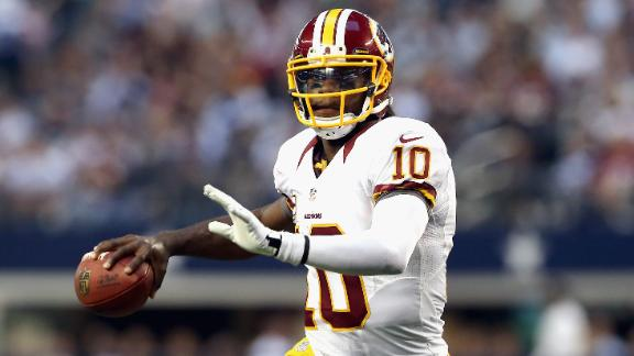 RG3 tosses 4 TDs, lifts Redskins past Cowboys