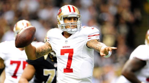 49ers use Kaepernick, defense to down Saints