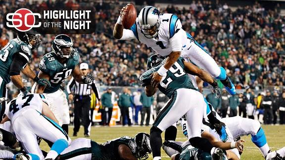 Newton good for 4 TDs as Panthers stop Eagles