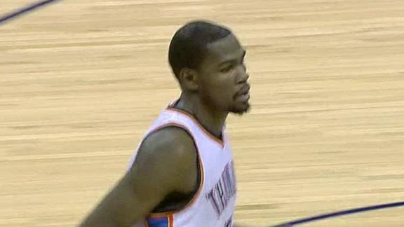 Durant, Thunder spoil Harden's return to OKC