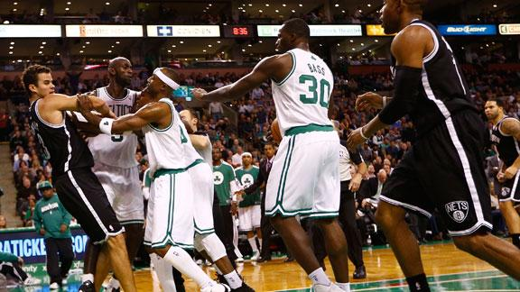 Rajon Rondo, Kris Humphries, and Gerald Wallace all ejected for…