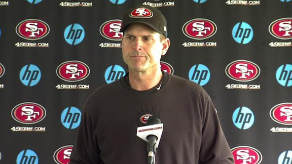 Video - Harbaugh Sticks With Kaepernick