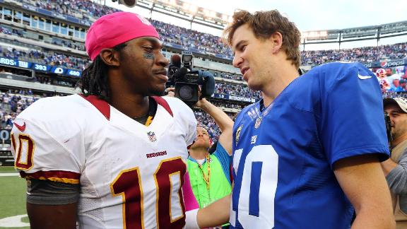 Video - RG3, Eli Manning Square Off On MNF
