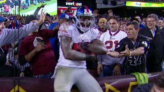 Video - Giants Lead Redskins At The Half