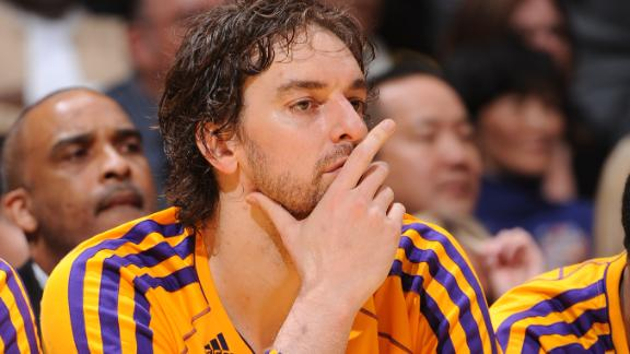 Lakers' Gasol (knees) out Tuesday vs. Rockets