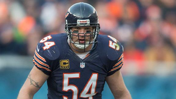Video - Report: Brian Urlacher Out Three Weeks