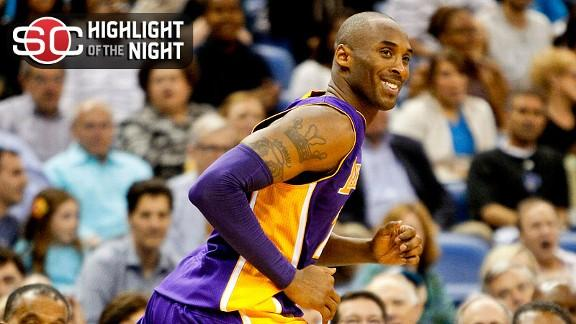Kobe reaches 30,000-point mark in Lakers' rout