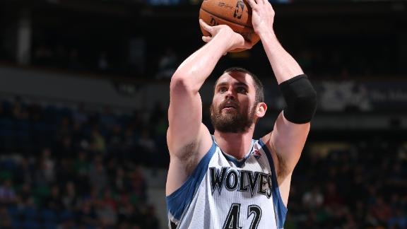 Love's double-double leads Wolves past Cavs
