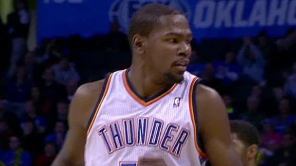 Durant's 27 pace Thunder to 8th straight victory