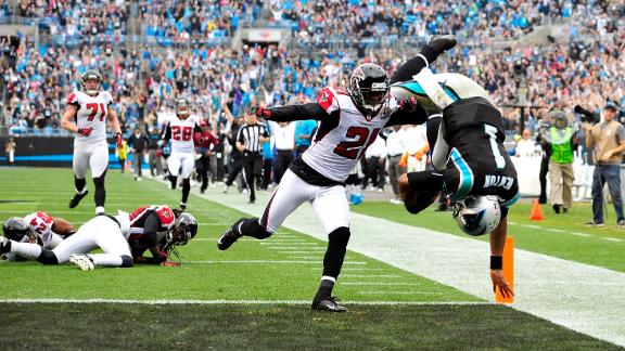Newton dominates Falcons as Panthers hold on