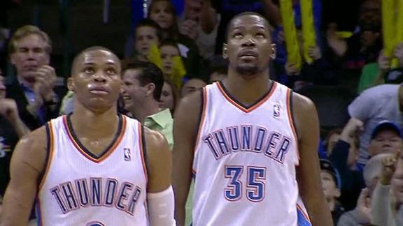 Thunder win 9th straight behind Durant's 35