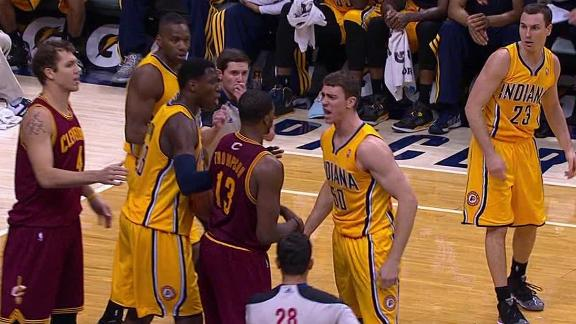 Video - Hansbrough Brothers In Altercation As Pacers Rally Past Cavs