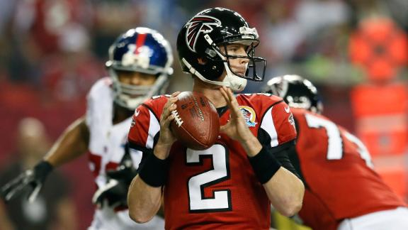Ryan throws 3 TDs as Falcons shut out Giants
