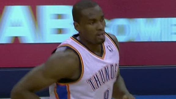Ibaka (25 pts, 17 rebs) lifts Thunder over Spurs