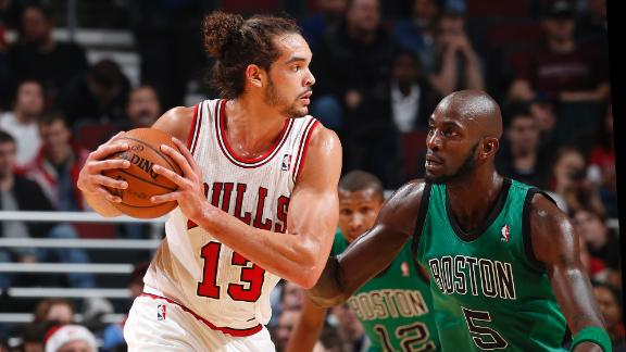 Noah's triple-double helps Bulls knock off Celts