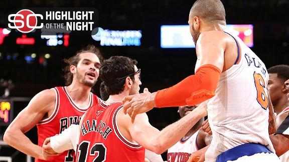 Video - Melo, Three Others Ejected In Bulls' Win Over Knicks