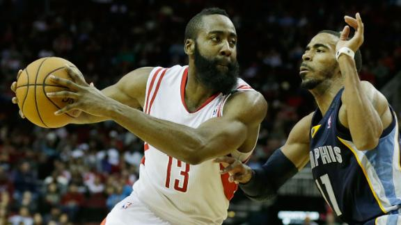 Harden, Rockets repel Grizzlies for 3rd straight