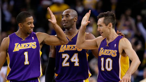 Nash returns, Kobe nets 34 as Lakers win in OT