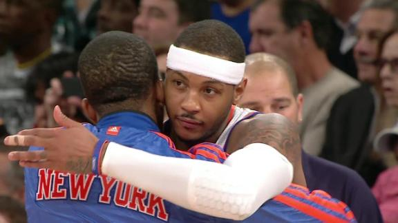 Melo steps up in 4th to rally Knicks by Wolves