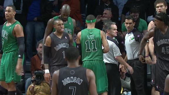 Rondo, Celtics rip Nets in heated holiday game