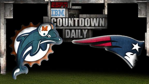 Video - Countdown Daily Prediction: Dolphins-Patriots