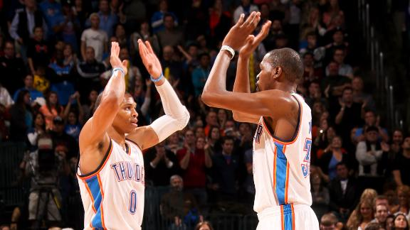 Durant nets 40 as Thunder prevail in overtime