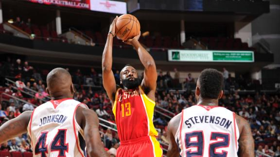 Harden's 28 help Rockets rebound vs. Hawks
