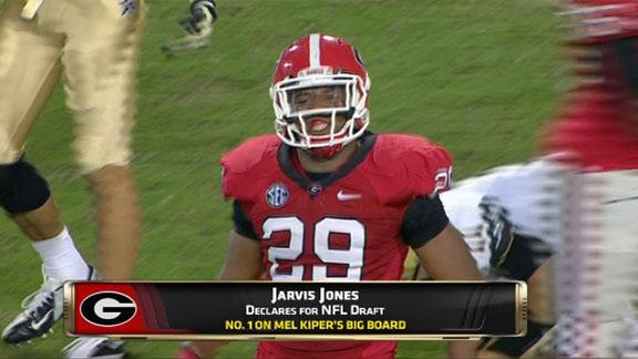 Georgia Bulldogs' Jarvis Jones declares for NFL draft