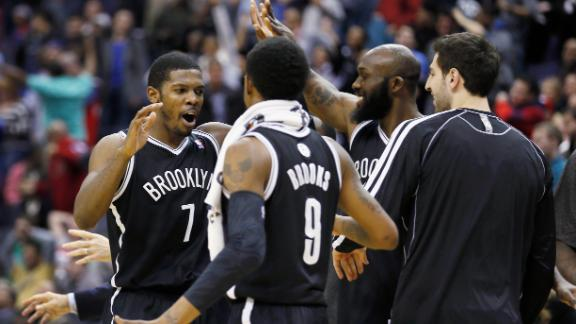 Johnson's jumper propels Nets to 2OT victory