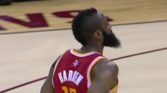 Harden heats up in 4th, lifts Rockets by Cavs