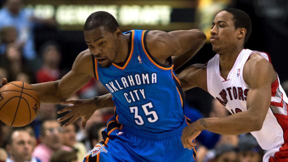 Westbrook-Durant duo overwhelms Raptors