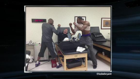 Kobe tweets funny photo of 'fight' with Howard