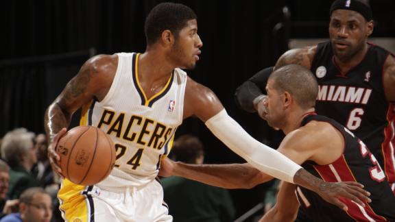 George scores 29 points as Pacers stifle Heat