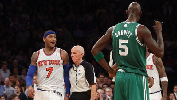 Video - KG, Melo Scuffle In Celtics' Win